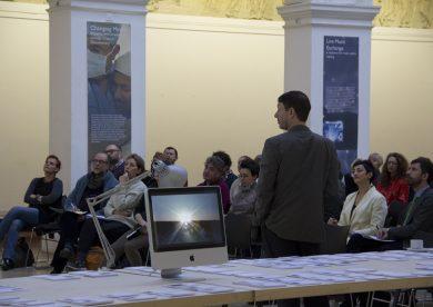 James Elkins runs a workshop in the Edinburgh College of Art Sculpture Court