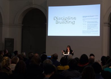 Beatriz Colomina delivers lecture in the Edinburgh College of Art Sculpture Court