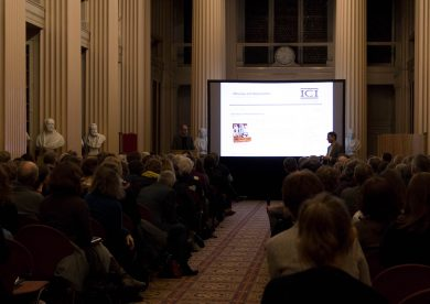 James Elkins delivers lecture in the Playfair Library