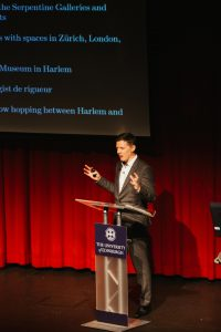 Fergus Linehan delivering his lecture