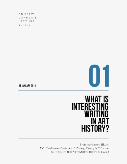 Prof James Elkins: What is interesting writing in art history? book cover