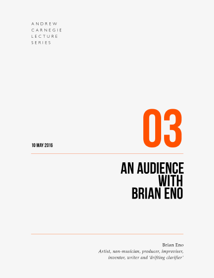 An Audiece with Brian Eno book cover